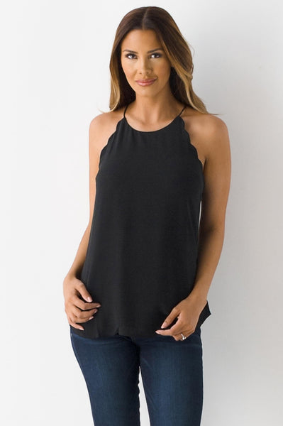 Shore Thing Scalloped Tank