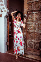 Florally Yours Wrap Maxi Dress