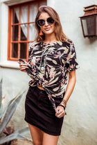 Birds of Paradise Knotted Top