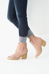Rose Suede Booties