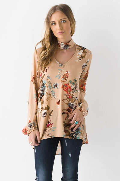The Blooming Iris Top