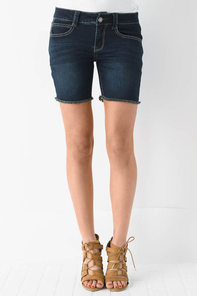 No Short Cuts Denim Shorts