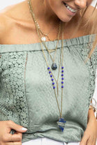 Arrowhead Stone Layered Necklace