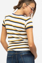 Hey Honey Striped T-Shirt - Bohme