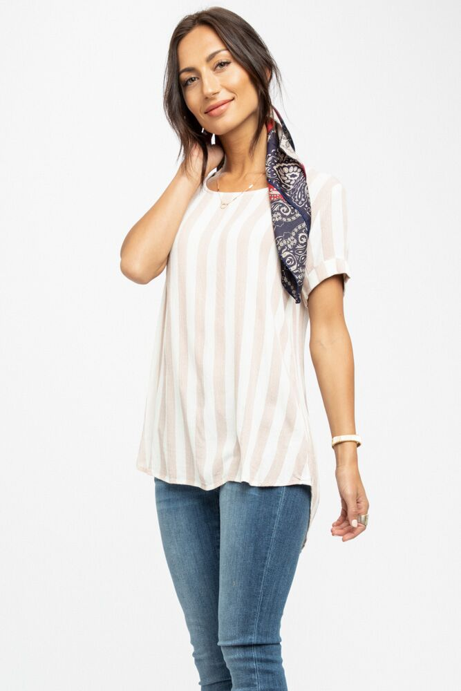 A Stone's Throw Striped Tunic in Mauve