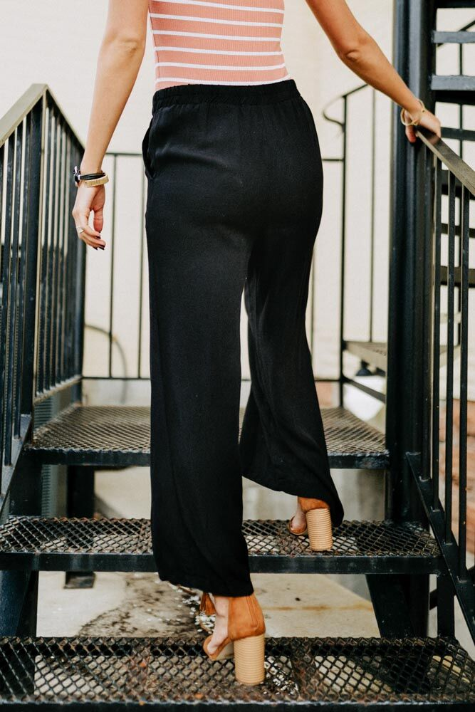 When in Black Palazzo Pants
