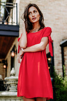 My Oh My Red Shift Dress- FINAL SALE
