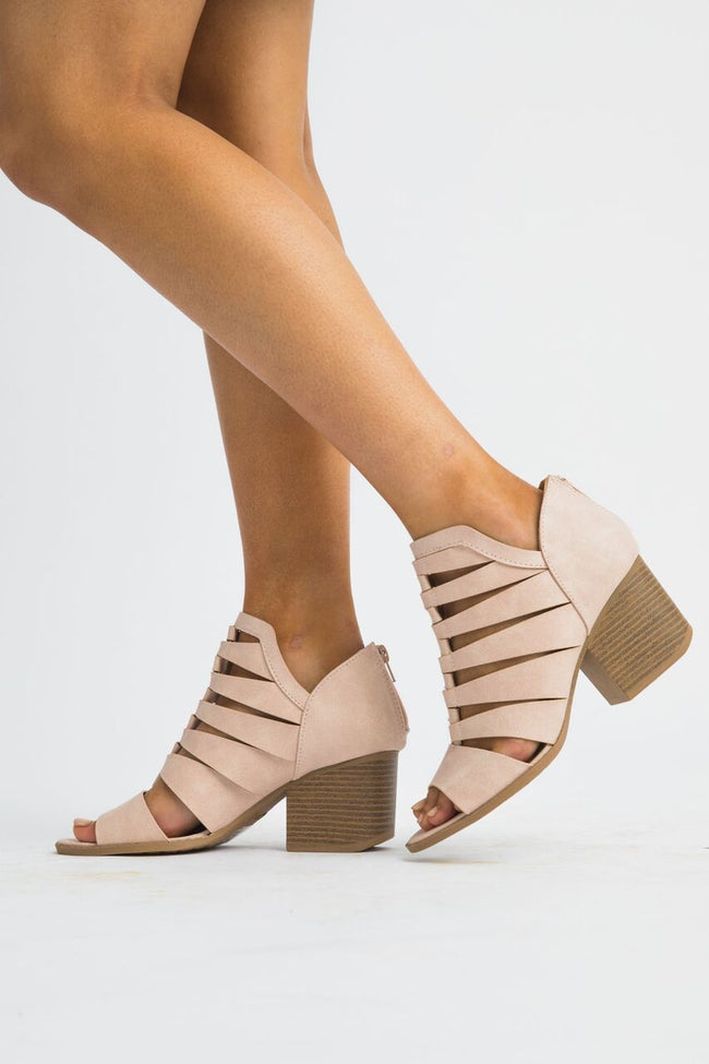Cut to the Core Nude Sandals