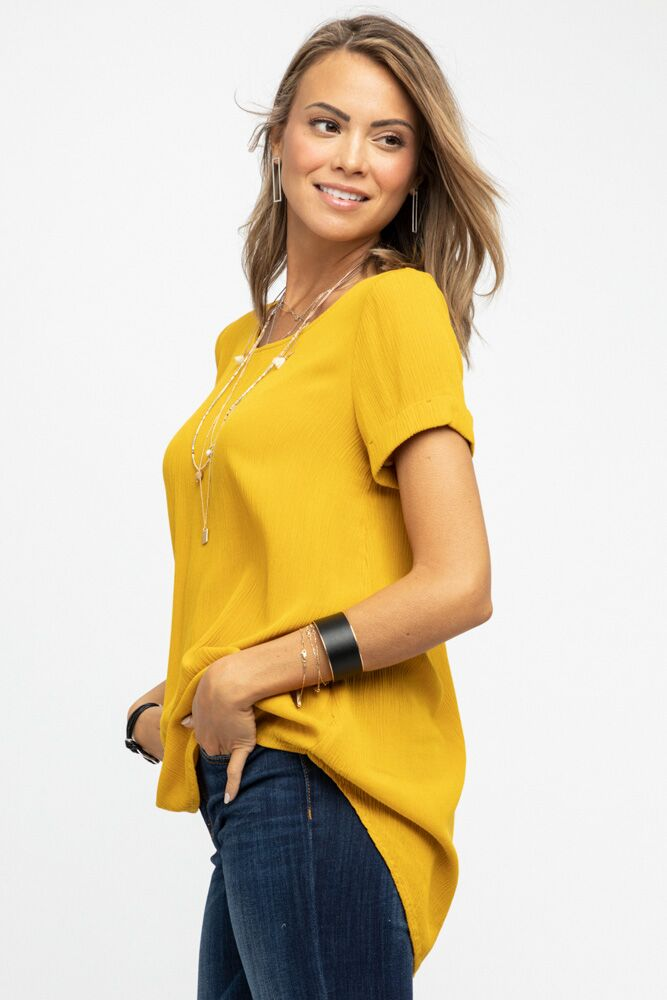 A Stone's Throw Tunic in Mustard - Bohme