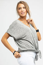 The Big Cozy Grey Top