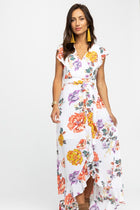 Final Sale - It's Blooming Floral Wrap Dress