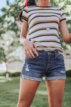 Short Notice Distressed Denim Shorts