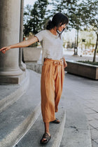 Let Me Roam Wide Leg Pants in Mustard