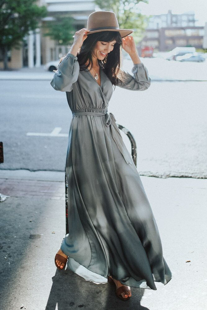 Sahara Long Sleeve Maxi Dress - Bohme