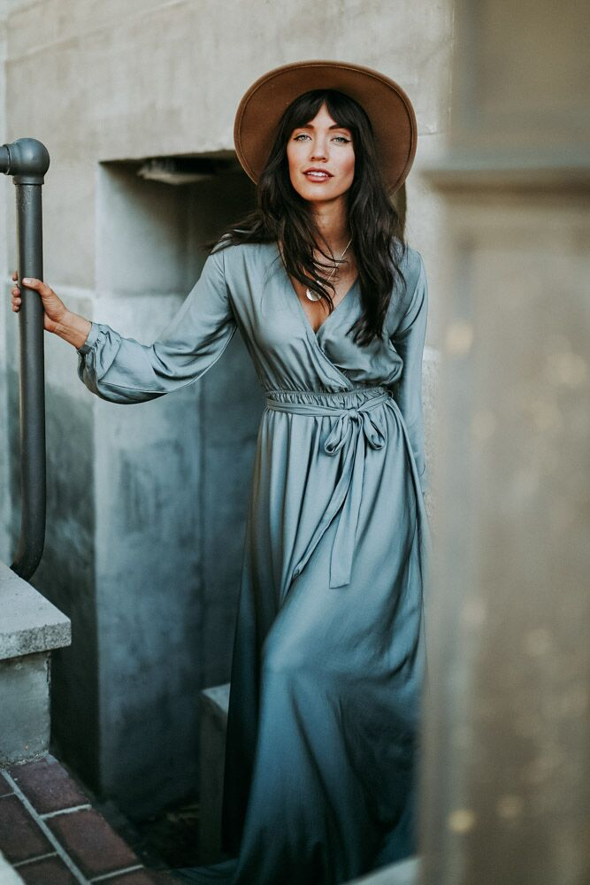 Sahara Long Sleeve Maxi Dress