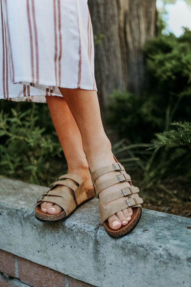 Desert Storm Sandals in Taupe