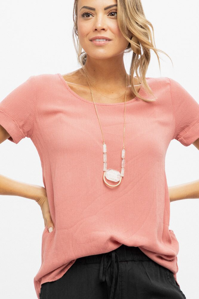 A Stone's Throw Tunic in Dusty Rose