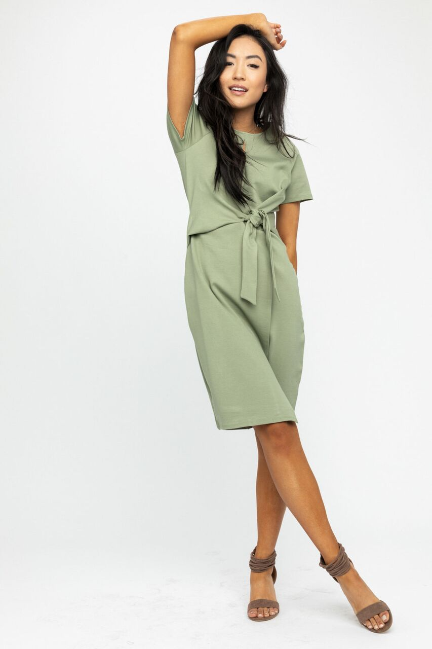 Executive Lady Pencil Dress in Sage