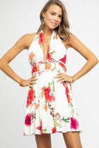 Out in Style Ivory Halter Dress - Bohme