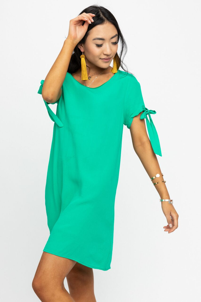 My Oh My Kelly Green Shift Dress-FINAL SALE - Bohme