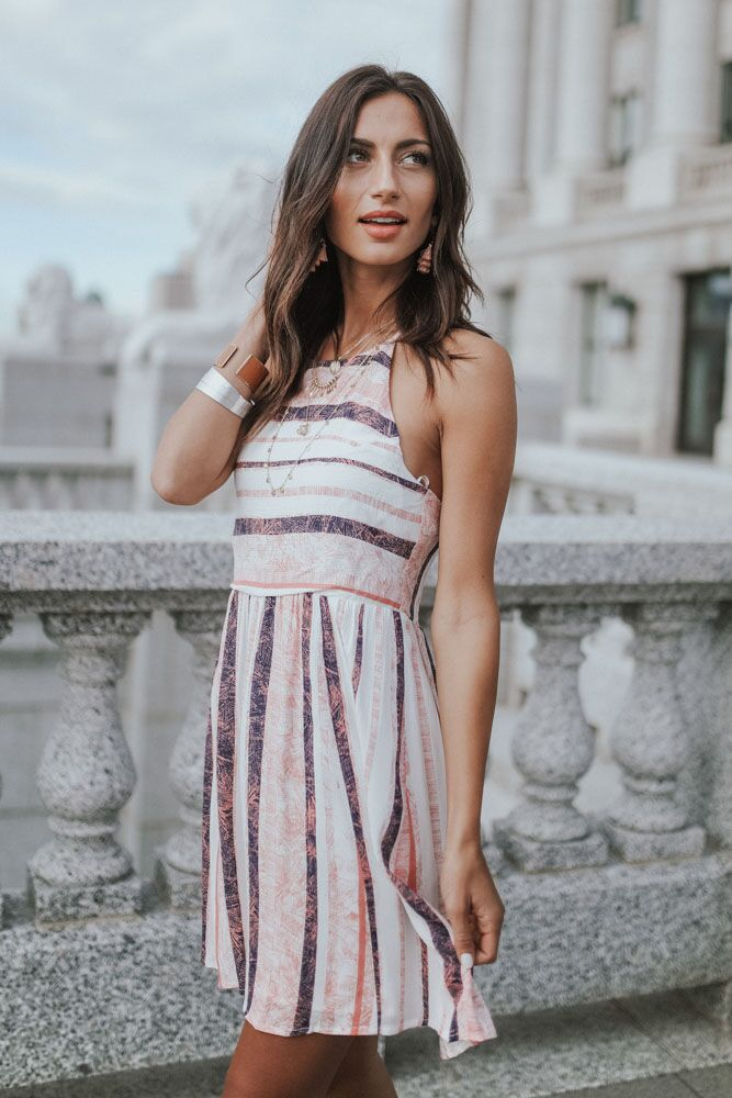 A Slice of Summer Stripe Dress - Bohme