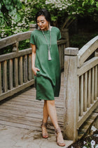 Stella Shift Dress in Green