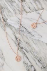 Encased In Gold Initial Necklace