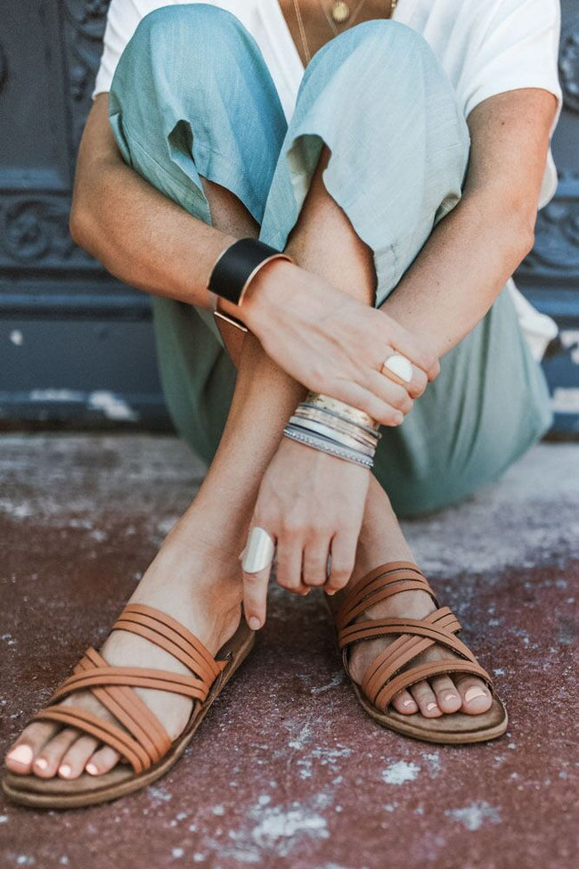 Weekend Ready Strappy Slide Sandal