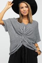 All Knotted Up Blouse in Black