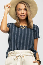 A Stone's Throw Striped Tunic in Navy & White