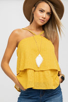 Girls Night Halter Top in Mustard-FINAL SALE