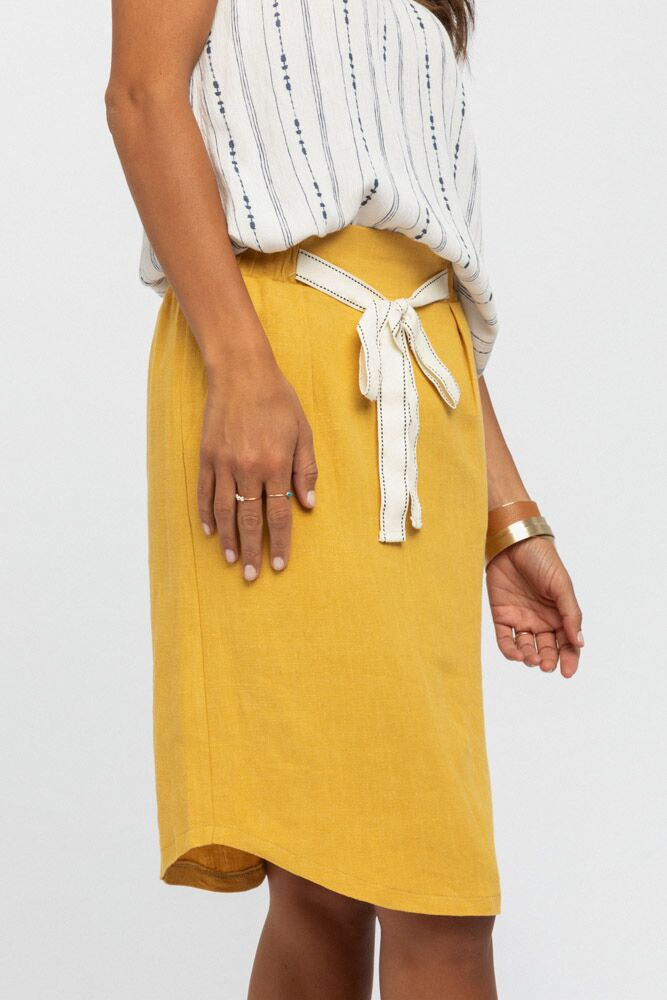 School's Out Skirt in Mustard