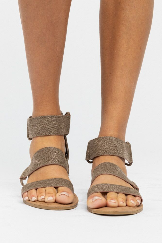 In Athens Taupe Sandal