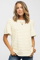 Ciao Bella Striped Top in Mustard - Bohme