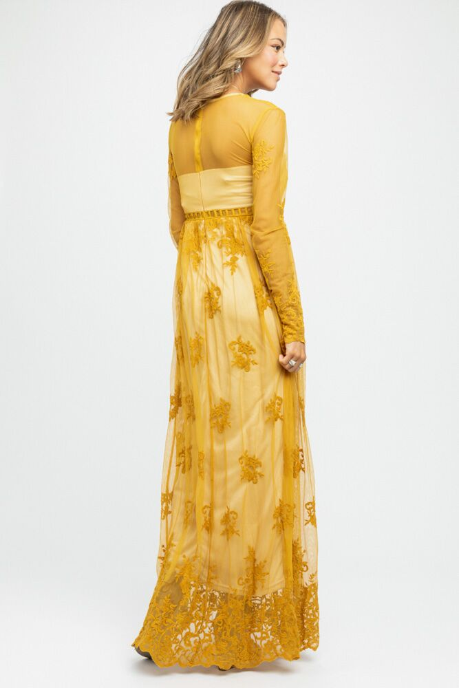Willow Maxi Dress in Mustard