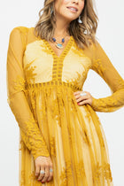 Willow Maxi Dress in Mustard - Bohme