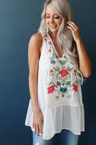 Watercolor In Floral Tank