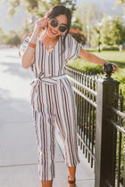 Americana Cropped Stripe Jumpsuit