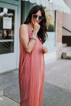 Tulum Gauze Maxi Dress in Rose