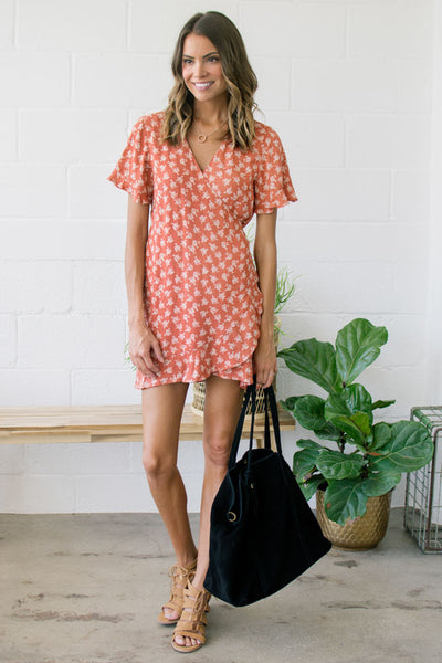 Apple Orchards Wrap Dress
