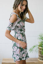 Palm Trees Sway Wrap Dress FINAL SALE