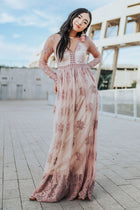 Willow Maxi Dress in Mauve - Bohme