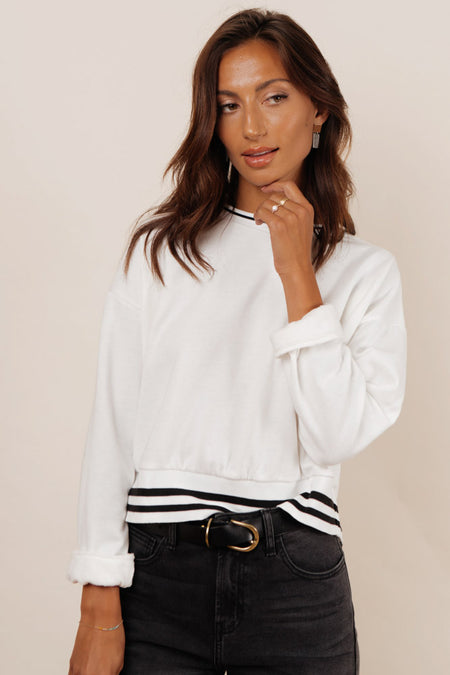 Jaci Striped Sweatshirt