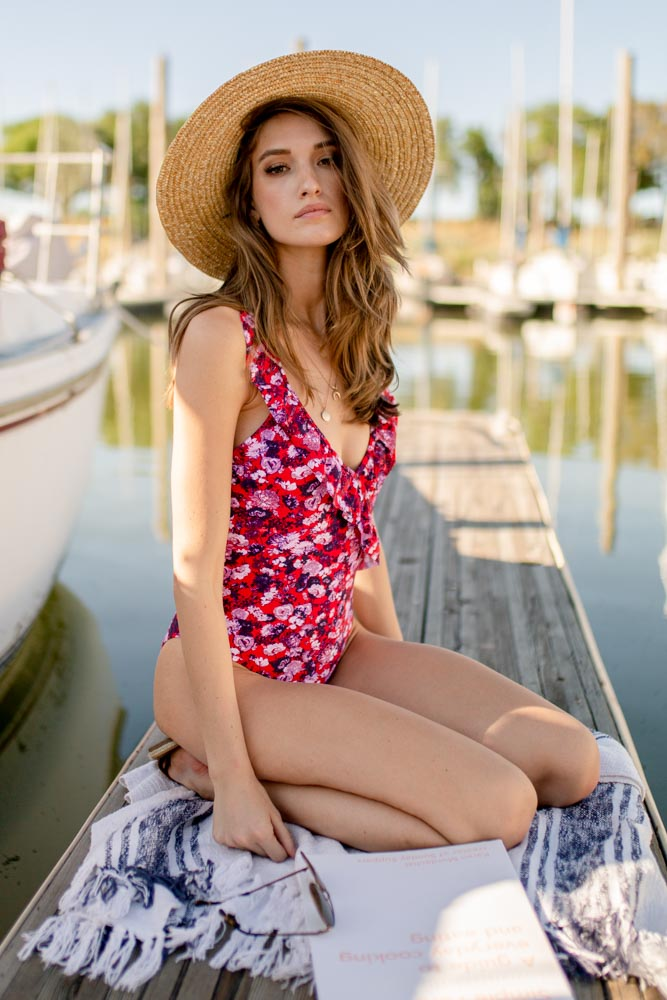 Flower Power Ruffle One Piece - FINAL SALE