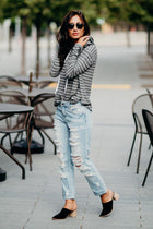 Run With It Striped Sweater - Bohme