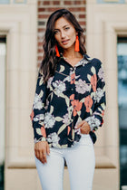 Isidore Floral Blouse in Black-FINAL SALE - Bohme