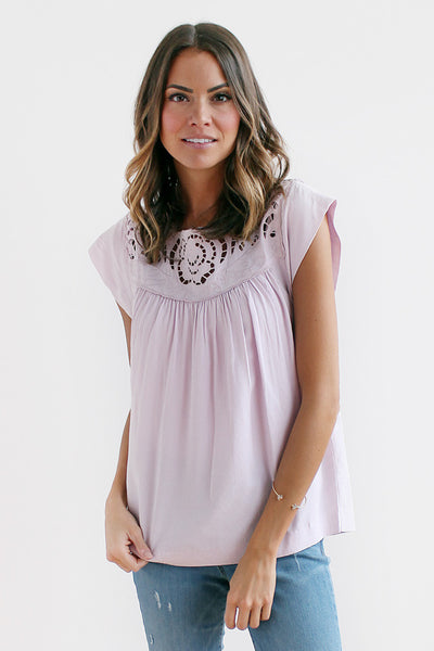 Laid In Lilacs Lace Top