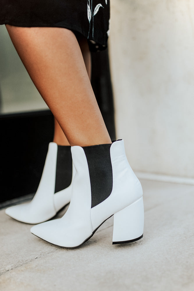 Milkyway Ankle Boots in White