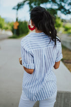 Take Me Away Stripe Blouse