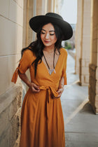 Bristol Wrap Dress in Mustard